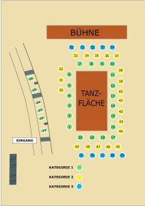 Saalplan des 11. Dresdner Golfballs
